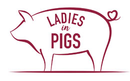 Ladies in pigs logo.